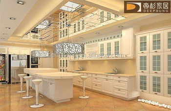modern style Solid wood kitchen cabinet American and Isreal style plywood carcase white