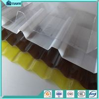Crystal Clear Storehouse Skylights 10-Year Warranty Polycarbonate Corrugated Plastic Roofing Sheets