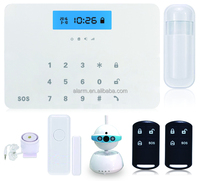 wireless gsm alarm camera system, bulit in camera and home alarm