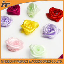 Decorative mini small satin ribbon flowers roses