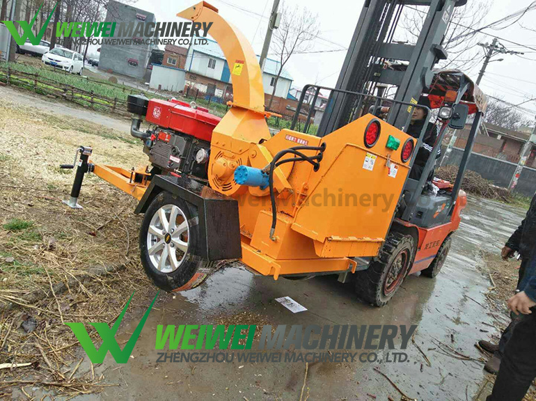 Weiwei manufacture wood cutting hammer mill crusher for branch grinding tree machine grinder branches