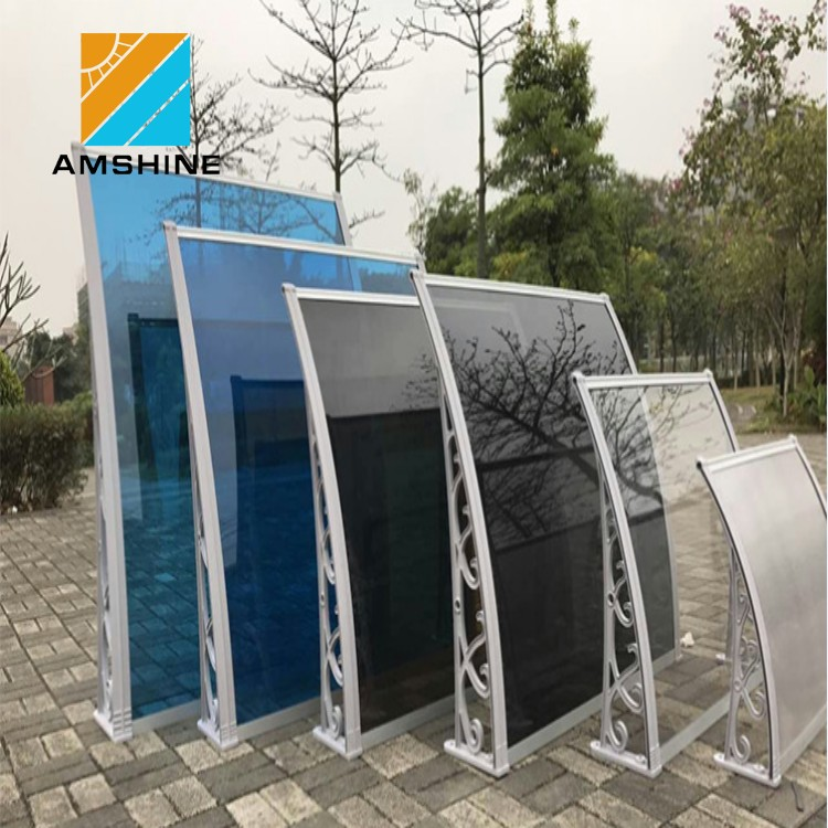 outdoor fixed awning double arms restaurant window awning