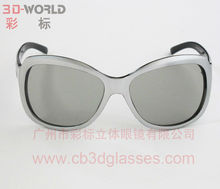 Plastic linear polarized 3d glasses for movie and TV