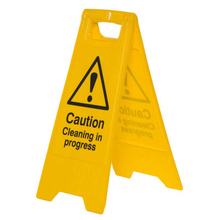Caution cleaning in progress road safety sign board