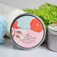 customized logo Scented soy wax candle fragrance aroma Candle tin box