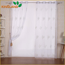 Imported curtain rope embroidery voile sheer fabric door curtain