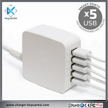 5USB 8A 40W charger Universal Charging Station with Multi Function