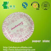 Customized food grade paper plate for different kind of food