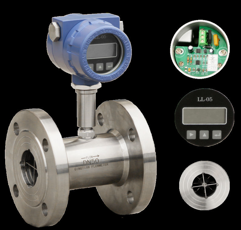 SS304 body Oil turbine flowmeter