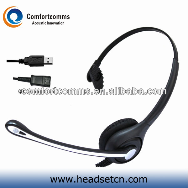 High quality noise cancelling usb call center monaural speaker headset with micophone HSM-600FPQDUSBS