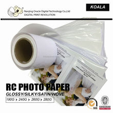 260g inkjet rc photo paper ,rc art paper supplies