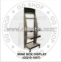 Wine Box Display Rack