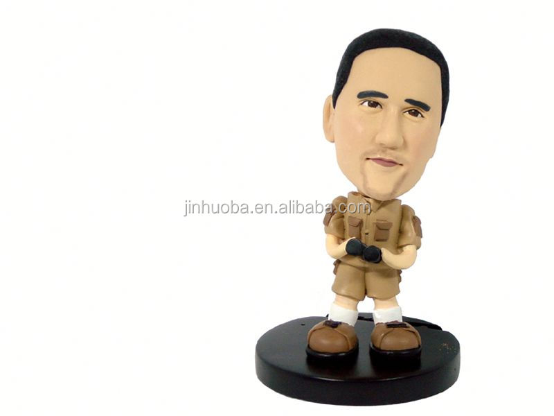 Resin customized bobble head figure, your own bobble head