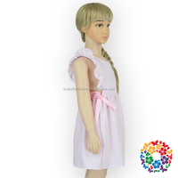 Latest Dress Designs Smocked Christening Gowns Ruffle Sleeveless Girls Party Dresses Baby Girl Clothes Dress