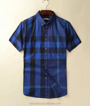 yarn dyed check short sleeve shirt