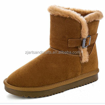 China factory fashion warm winter stiletto boots for women