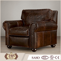 latest design sofa set antique style grain genuine leather sofa for living room