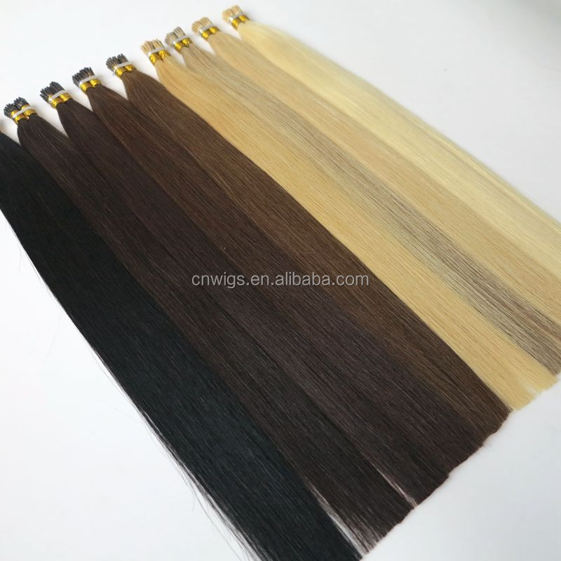 Last 12 Months Full Cuticle 0.5g 100% Russian Keratin tip Double Drawn Pre Bonded Hair Extensions