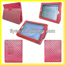 Good Touch Sheep Pelt Hot Pink Folding Case For iPad 3 iPad 2 Magnetic Slim Folio PU Leather Case Smart Cover Stand Wholesale