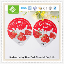 disposable custom printed yogurt cup container aluminium foil lid