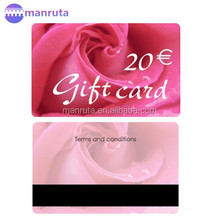 leading manufacture plastic Gift card with magnetic stripe