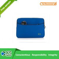 2015 Lastest Style High Quality neoprene blue laptop sleeve with front pocket
