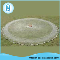High strength nylon knotted cast round fishing net