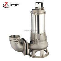 5.5kw 3 phase 380v vortex impeller stainless steel submersible pump marine sewage pump
