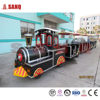 2015 SANQGROUP Factory Directly Sale !Indoor & Outdoor Family Game Rides Travel Train Elephant Trackless Train For Shopping Mall