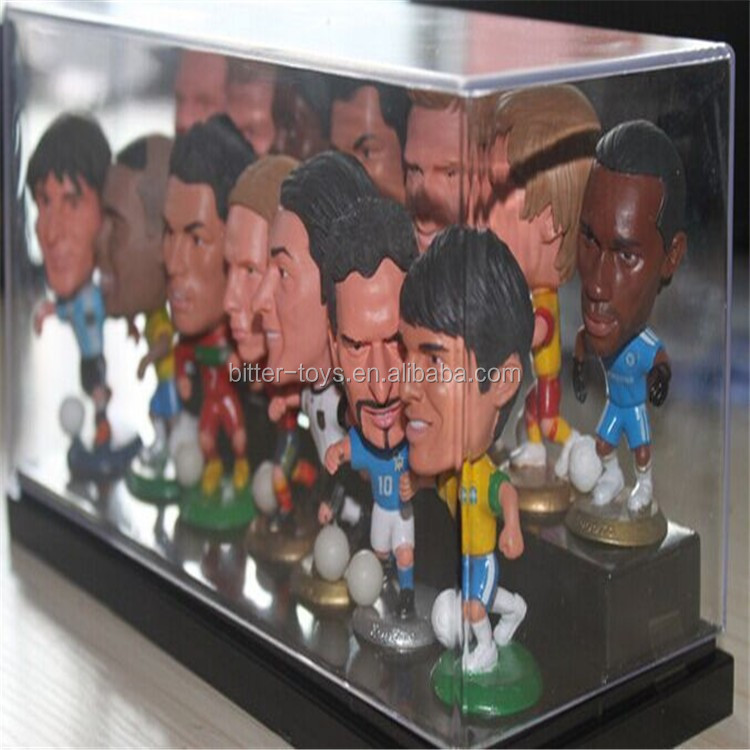 Hot plastic PVC Football player Figure Model Toy, miniature soccer player action figures for collection
