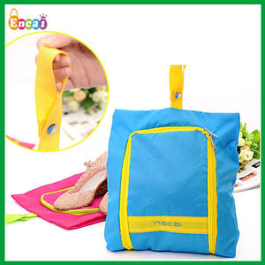Encai Factory Fashion Travel Organizer Shoes Bag/Colourful Waterproof Folding Shoes Pouch With Handle