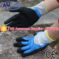 NMSAFETY black nitrile colored nitrile cut resistant gloves