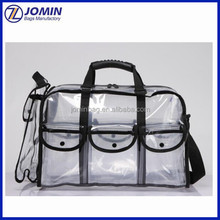 avon audit factory produce makeup artist clear set bag with removable pouches, large carry clear cosmetic pvc bag