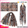 Boutique-Leopard Printed Polyester Women Printed Scarf