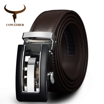 COWATHER 2019 cow Genuine Leather men Belts strap for male Fashion casual Brand cinto masculino CZ024