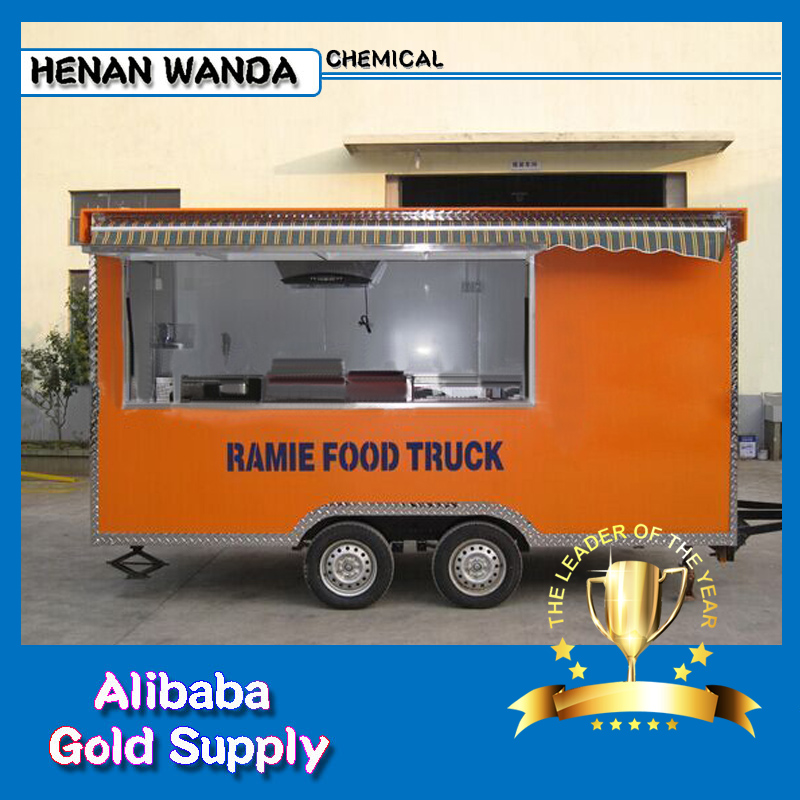 Wanda CE mobile food / tricycle food cart / mobile food cart with wheels