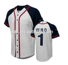 Best quality new products hot sale most popular bespoke mesh baseball jerseys