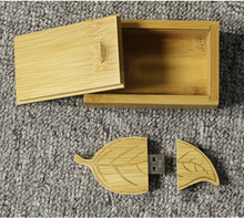 New Arrival 4GB 8GB 16GB 32GB Wooden Cartoon Leaf USB Flash Drive 2.0 Memory Card Drive Sticks Pen Drive U Disk