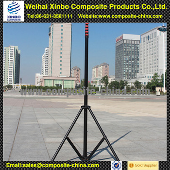 Cheap carbon fiber aerial photography telescopic pole with telescopic tripod