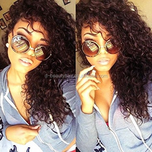 Hair Curly Full Lace Human Hair Wigs-Glueless 130% Density Brazilian Virgin Remy Wigs with Baby Hair For African Americans Natu