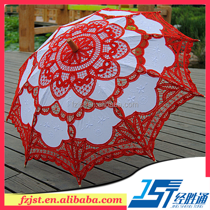 Wedding decoration red lace umbrella wedding <strong>gifts</strong> for guests