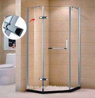 American market standard tempered glass stainless steel diamond shape shower cabinet KDS-PS141010