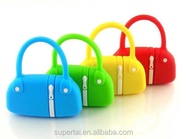 Promotional silicon bag usb flash drive for lady