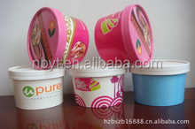 16oz customized ice cream paper cup with lid