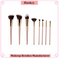 2017 PRO 8PCS Diamond type high quality with private label unicorn makeup brush set