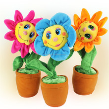 Baby Dancing And Music plush toys Electronic Plush Sun Flower Toys Educational Decoration Toy