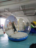 Indoor Christmas air blown inflatable snow globe Giant Snow Globes Inflatable