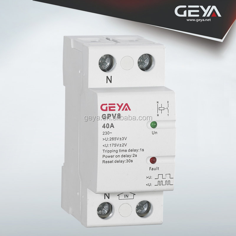 Voltage protection relay 32A,40A,50A,63A rated frequency 50/60HZ