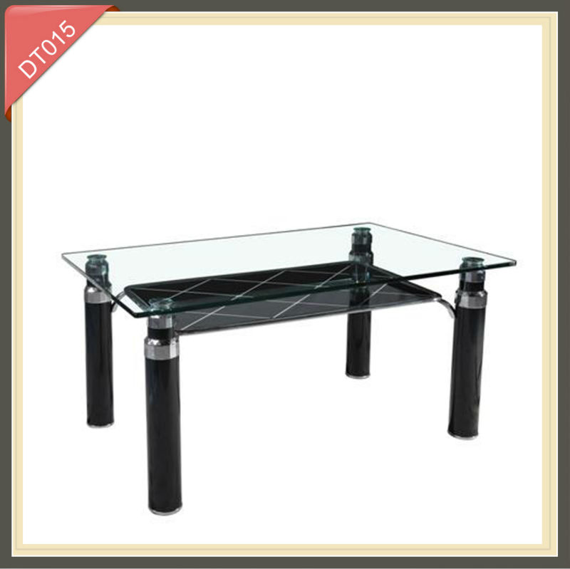 expandable round black and white 6 seaters wooden dining table