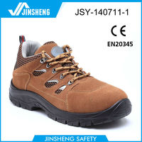 PU dual density injection genuine leather high ankle basic model safety shoe